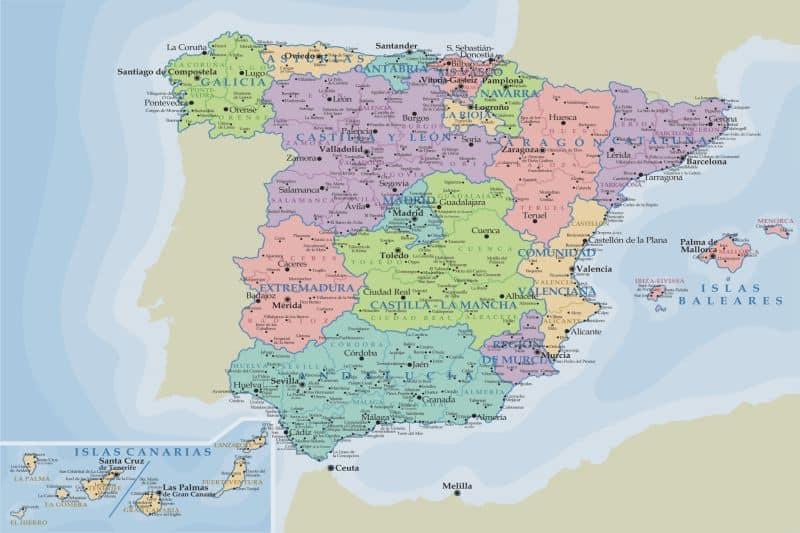 Mapa - Que ver en España