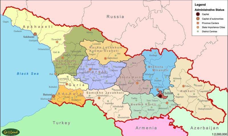 Georgia Mapa Threeblindantscom - Mapa de georgia